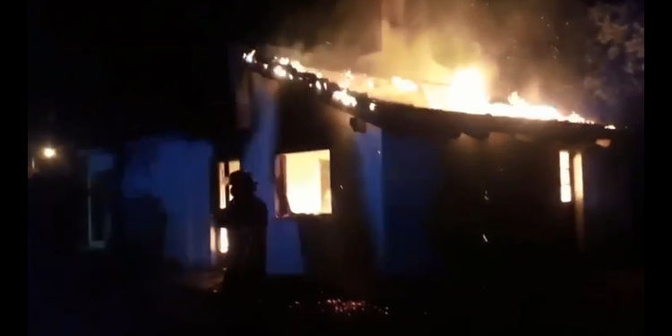 incendio en casa del barrio las dunas monte hermoso