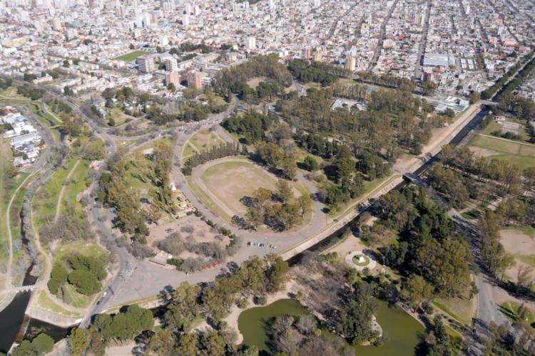 Vista aerea del parque de mayo