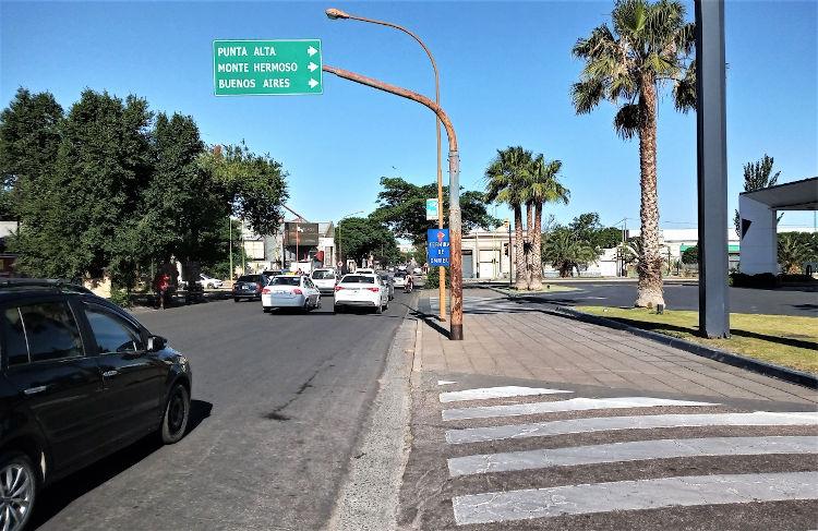 Bahia Blanca cartel salida a Monte Hermoso