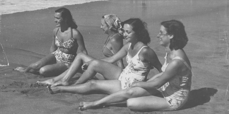 Bañistas en la decada del 50