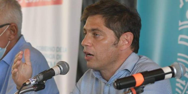 Kicillof conferencia de prensa en Monte Hermoso sobre el tema del agua en bahia
