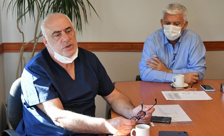 Alejandro Dichiara y Jorge Busca conferencia de prensa