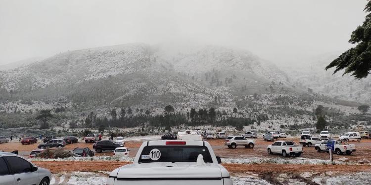 Nieve en Sierra de la Ventana