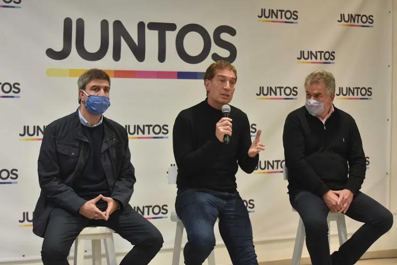 Santilli en Bahía Blanca con Héctor Gay