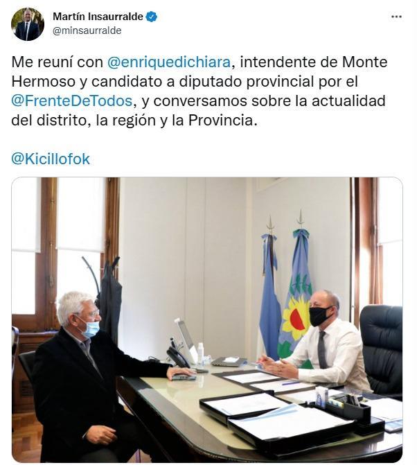 Reunión de Alejandro Dichiara con Martín Insaurralde
