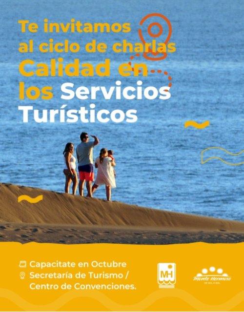 El municipio invita a un ciclo de capacitaciones gratuitas sobre calidad en los servicios turísticos