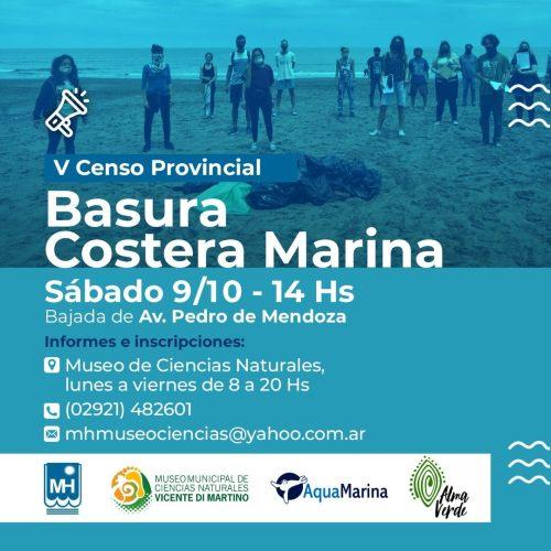 Censo provincial de basura costera marina